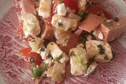 Tomaten - Fleischwurst - Salat 2