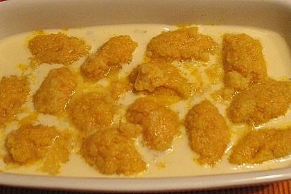 Grießnocken mit Gorgonzola - Sauce 3