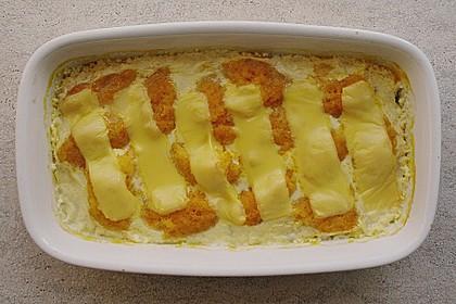 Grießnocken mit Gorgonzola - Sauce 1
