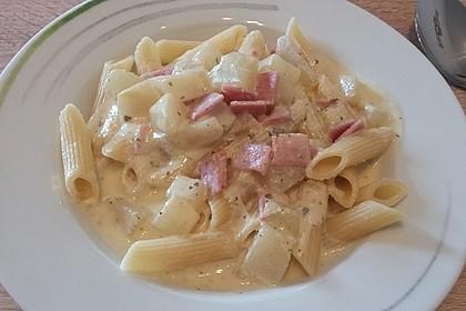 Nudeln mit Kohlrabi-Schinken-Sauce 26