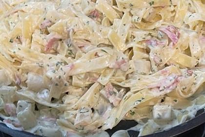 Nudeln mit Kohlrabi-Schinken-Sauce 4