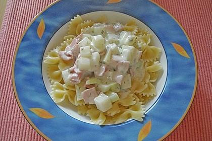 Nudeln mit Kohlrabi-Schinken-Sauce 14