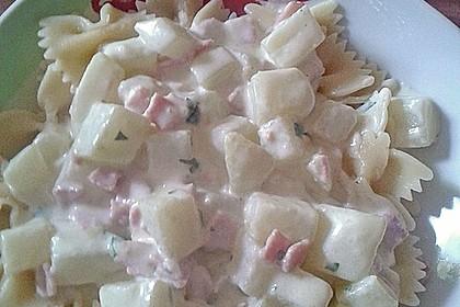 Nudeln mit Kohlrabi-Schinken-Sauce 27