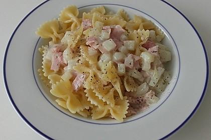 Nudeln mit Kohlrabi-Schinken-Sauce 11
