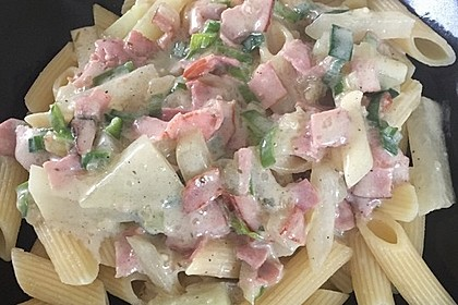 Nudeln mit Kohlrabi-Schinken-Sauce 13