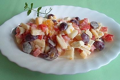 Käse - Früchte - Salat