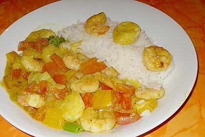 Bananen - Garnelen - Curry