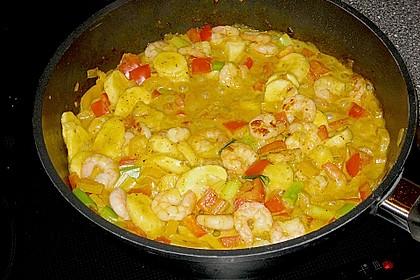 Bananen - Garnelen - Curry 3