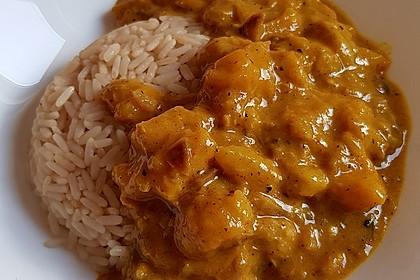 Gelbes Mango - Bananen - Curry 1