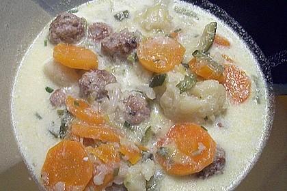 Mettbällchen - Schmand - Suppe