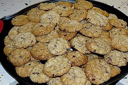 Urmelis weiße Schokolade - Cranberry - Haferflocken - Cookies (Bild)
