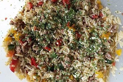 Kritharaki-Salat mit Hackfleisch 55