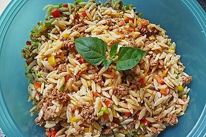 Kritharaki-Salat mit Hackfleisch 1