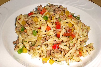Kritharaki-Salat mit Hackfleisch 7