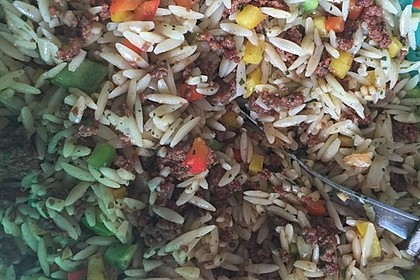 Kritharaki-Salat mit Hackfleisch 69