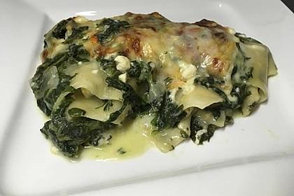 Spinat - Schafskäse - Lasagne 9