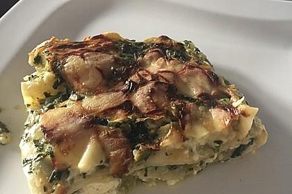 Spinat - Schafskäse - Lasagne 8