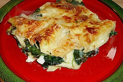 Spinat - Schafskäse - Lasagne 4