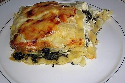Spinat - Schafskäse - Lasagne 5