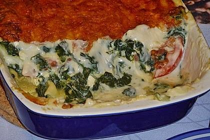 Spinat - Schafskäse - Lasagne 20