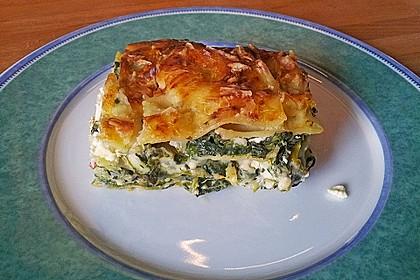 Spinat - Schafskäse - Lasagne