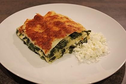 Spinat - Schafskäse - Lasagne 2