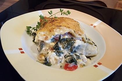 Spinat - Schafskäse - Lasagne 7