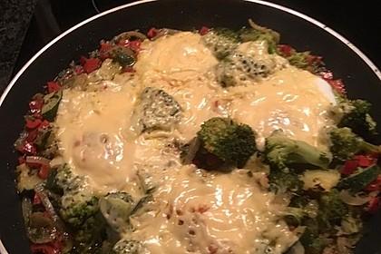 Gemüsepfanne mit Eiern und Käse 34