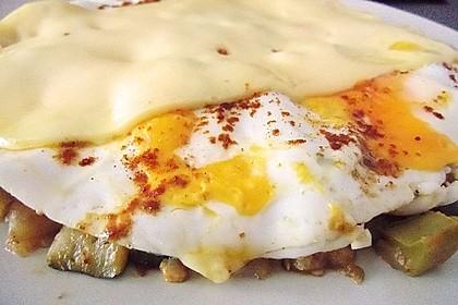 Gemüsepfanne mit Eiern und Käse 30