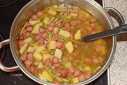 Kartoffel - Bohnen - Eintopf mit Cabanossi 2