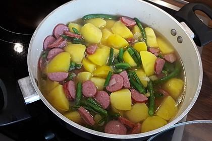Kartoffel - Bohnen - Eintopf mit Cabanossi 1