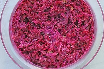 Rote Bete Salat mit Apfel und Walnuss 15