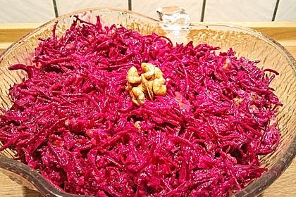 Rote Bete Salat mit Apfel und Walnuss 10