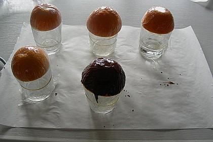 Orangencreme in Schokoladenschalen 4