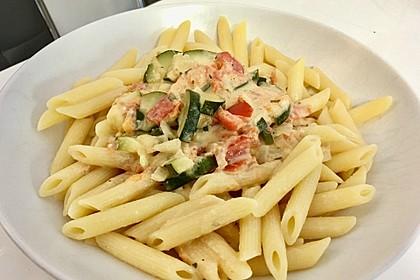 Zucchini - Tomaten - Gorgonzola - Pasta 2