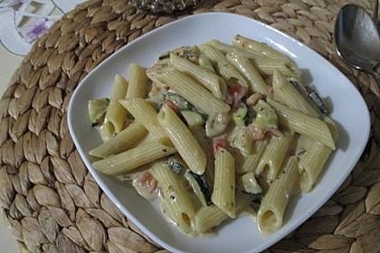 Zucchini - Tomaten - Gorgonzola - Pasta 1