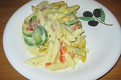 Zucchini - Tomaten - Gorgonzola - Pasta 3