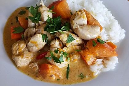 Kürbis - Hähnchen - Curry 3