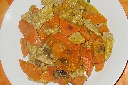 Kürbis - Hähnchen - Curry 7