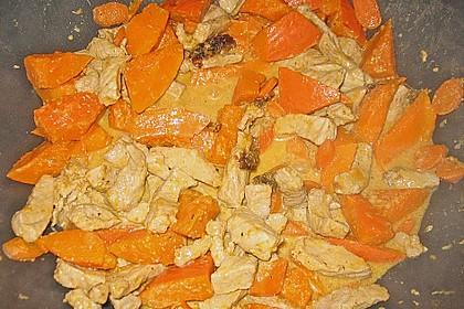 Kürbis - Hähnchen - Curry 6