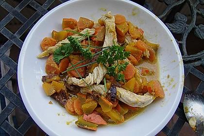 Kürbis - Hähnchen - Curry 2
