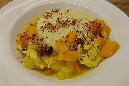 Kürbis - Hähnchen - Curry 5
