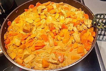 Kürbis - Hähnchen - Curry 1