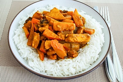 Kürbis - Hähnchen - Curry 8