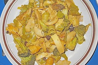 Vegetarische Gemüsenudeln 1