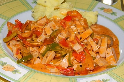Nudel - Fleischwurst - Pfanne