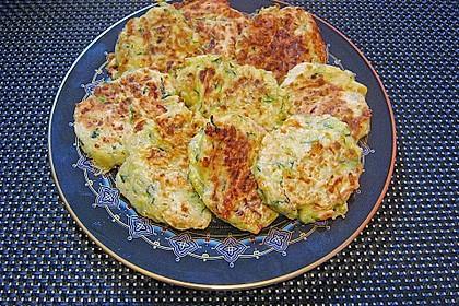 Zucchini - Puffer mit Käse 1