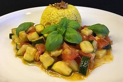 Zucchini - Tomaten - Gemüse (Bild)