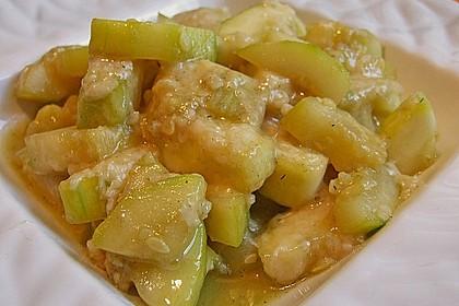 Zucchini mit Parmesan 1