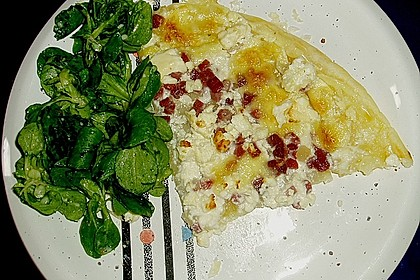 Blätterteig - Flammkuchen mit Käse 2